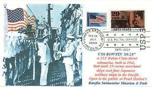 USS BOWFIN SS-287 WW II Navy Submarine, Pearl Harbor Museum Vessel First Day PM