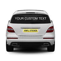 2 x Personalised Rear Window Car Stickers Custom Vinyl Name Lettering Decals