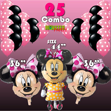 25 Mickey Minnie Mouse Birthday Party Balloons Balloon Pink supplies decorations