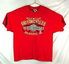 Harley Davidson Emerald City, Seattle Washington Men's Size: XL Red T Shirt
