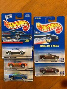 Lot of 5 Vintage Hot Wheels Mazda Miata MX-5 #172 Variants, Reese's X-treme +MOC