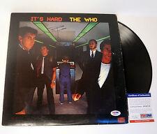 PETE TOWNSHEND THE WHO SIGNED AUTOGRAPH IT'S HARD VINYL RECORD ALBUM PSA/DNA COA