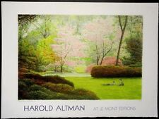 "Harold Altman-""Central Park""1990-NYC- Landscape-Litho on W.C.Paper-Art-Prints"