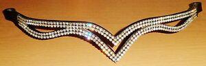 New Designer Ve Clear Crystal Browband Great Gift Idea offer Unique design Brown