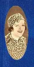 Gracie Fields 1934 Carreras Film Star Oval Cigarette Card