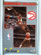 RARE DOMINIQUE WILKINS HAWKS 1990 VINTAGE ORIGINAL NBA STARLINE POSTER