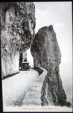 FRANCE~1900's FORET de LENTE ~ La Roche fendue ~ OLD CAR ON FRENCH HIGHWAY