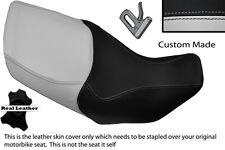 LIGHT GREY & BLACK CUSTOM FITS HONDA XL 1000 V VARADERO 99-07 DUAL SEAT COVER