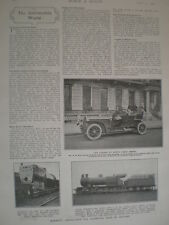 Printed photo E A Paul London to Monte Carlo car speed record holder 1907