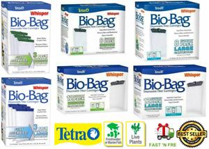 Tetra Bio Bag Whisper Cartridge Filter Aquarium-Unassembled or Assembled- M/L/XL