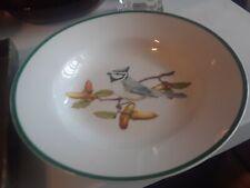 "National Wildlife Federation Bowl Bird Gray & Black 8"" Rim Soup Cereal (A)"