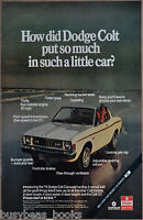 1975 DODGE COLT advertisement, Dodge Colt Carousel hardtop
