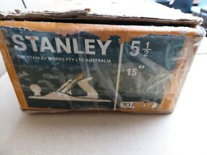 VINTAGE STANLEY BAILEY WOOD WORKING JACK  PLANE SIZE  5 1/2 IN ITS ORIGINAL BOX