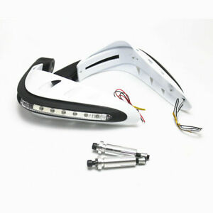 Protège-mains de moto LED Clignotants lumineux Brosse à main Gardes Cafe Racer