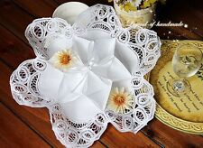 ONE Lovely White Cotton Roll Bun/Biscuit Server/Bun Cozy~Handmade Batten Lace~