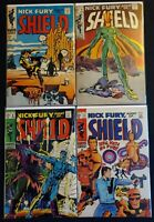 NICK FURY AGENT OF SHIELD (1968) LOT 7 8 9 12 ~AWESOME SILVER AGE STERANKO!