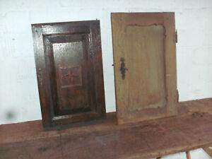 2 alte Eichentüren - Schrank - Brotschrank