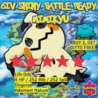 Mimikyu 6IV SHINY Pokemon Sword and Shield BATTLE READY + Japanese Ditto offer