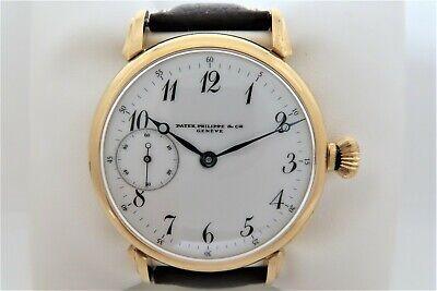 Patek Philippe Geneve Original Antique Pocket Watch Converted To Wristwatch 44mm
