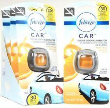 4 Febreze Car 0.06 Oz Smoke Odor Eliminator Fresh Citrus Up To 30 Day Vent Clip