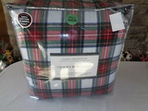 Tommy Hilfiger STEWART (Tartan) PLAID Flannel Comforter Set FULL/QUEEN 3 Pc. Set