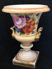 Vase Medici Porcelain of Early of 19 Th Century Decor Flowers towards 1830