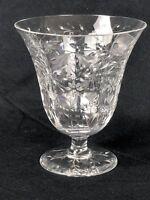 VTG KOSTA BODA CRYSTAL Wine GLASS Cut LEAF Floral DESIGN Octagon STEM 7 Avail.