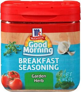 1 McCormick Good Morning BREAKFAST Seasoning GARDEN HERB DISCONTINUED 02/2019