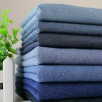 100% Cotton Denim Fabric Thick Jeans Cloth Sewing Craft for Pants Tablecloth DIY