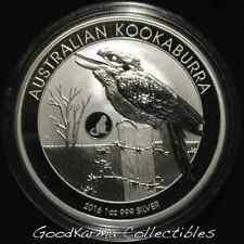 * 2016 Australia Kookaburra (Monkey Privy) Silver Coin BU 1oz .999 *