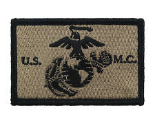 USMC EGA Coyote and BlacK Tactical Hook & Loop Embroidered Morale Tags