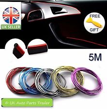5M Car Styling Sticker Interior Decorative Thread Strip RED, BLUE, SILVER, GOLD