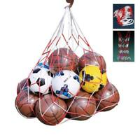 Basketball Football Mesh Bag Ball Carry Net Bag Soccer Volleyball Training UK