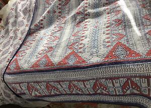 Levtex red white blue southwestern design reversiable quilt queen