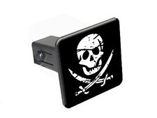 "Pirate Skull Crossed Swords - 1 1/4"" 1.25"" Trailer Hitch Cover Plug"