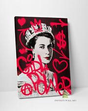 QUEEN GIRL POWER Graffiti Canvas Art Wall Art Print Picture Banksy Decor -D156