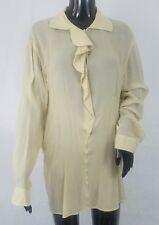 Giorgio Armani Le Collezioni Womens Tunic Blouse Size 44 /10 Rayon Beige Sheer