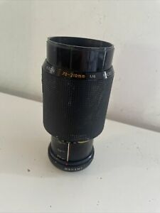 Vintage Kiron Kino 70- 210mm lens f/4 for Minolta film camera with zoom lock