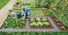 3er Set Maxi Beetplatten Set braun Wegbelag für Garten und Camping Gehwegplatte