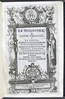 Seicentina - G. Botero - La primavera, il Monte Calvario e le feste - 1611 RARO