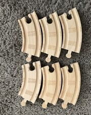 Authentic Learning Curve Wooden Thomas Train 6 Pieces 3 1/2 Inch Curved Tracks