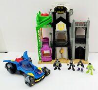 Fisher Price Imaginext DC Super Friends Wayne Manor Tower Batman Playset Lot