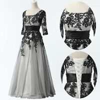 PLUS SIZE 2-24W Sexy Long Lace Wedding Evening Formal Party Ball Gown Prom Dress