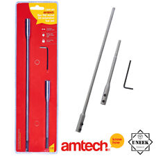 3 Flat Wood Bit Extension Bar Set Shank and 6'' & ''12  Hex Key Amtech - F0770