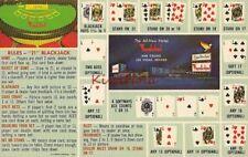 Postcard Hotel Thunderbird Las Vegas Nevada NV Rules Blackjack