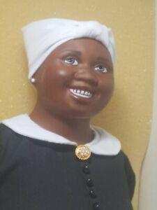 "Franklin Mint Heirloom Porcelain Doll Gone with The wind Hattie McDaniel MIB 20"""