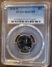 2018-D Jefferson Nickel PCGS MS 67 FS