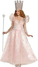 Ladies Long Glinda The Good Wizard Of Oz Witch Fancy Dress Costume Outfit 10-14