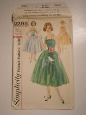 S-2295 Vintage One Piece Dress Sewing Pattern Simplicity Bust 32 Uncut  Rare