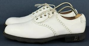 Footjoy FJ 52005 ICON White Leather Men's Golf Shoes Size US 10N, *EU 43, *UK 9
